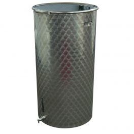 200 Litre Stainless Fermenter with Lid, Clamp, Airlock, & Tap (Engine Turned Finish)