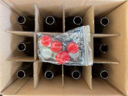 Beer Bottle - Crown Cap Top 500ml, Brown Glass (Box of 12 bottles and 12 crown caps)