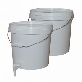 2 x 10 litre Buckets with Siphon & Tap for use with EZ Inline Filter and Spiritworks Granular Filter