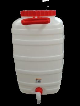 Fermenter - 50 Litre (Plastic) - with Tap, Large Cap, liquid thermometer, Grommet & Airlock