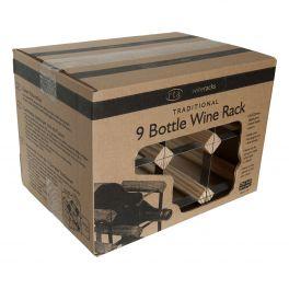Wine Rack - Assembled 9 bottle