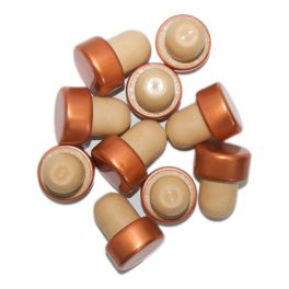 Capped Bottle Stoppers  - Bronze (10)