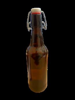 Glass Bottles - Beer Bottle - Swing Top 500ml, Brown Glass (Box of 12)