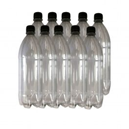 1-litre-clear-plastic-bottle-with-screw-caps-pack-of-10