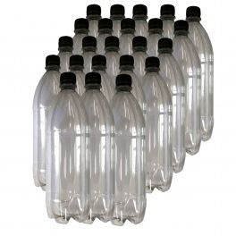 1-litre-clear-plastic-bottle-with-screw-caps-pack-of-23
