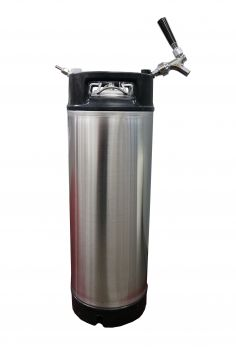 Cornelius Keg with Disconnects, Hose and Tap