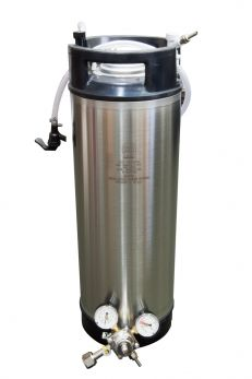 Cornelius Keg with Disconnects, Hose, Tap, and Regulator
