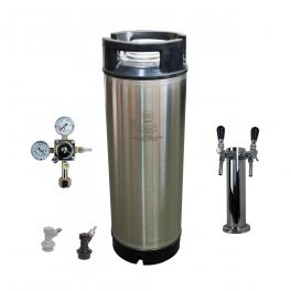 cornelius-keg-5-us-gallon-with-disconnects-hose-twin-faucet-and-regulator