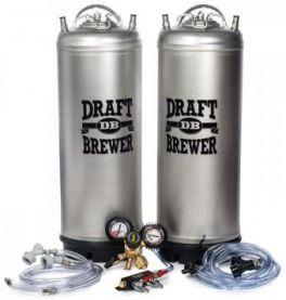 Home Brew Keg System w/ Two Cornelius (Corny) Ball Lock Kegs & Gas Distributor