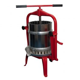 20 Litre All Stainless Traditional Cross Beam Fruit Press (F25 INOX) - Ideal for Apples