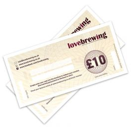 £10 Love Brewing Gift Voucher (physical voucher, posted)