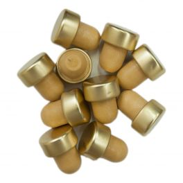 Capped Bottle Stoppers - Gold (10)