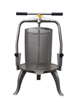 25-litre-all-stainless-cross-beam-fruit-press-with-mesh-basket-v30-inox-ideal-for-apples-other-fruit