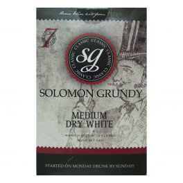 Solomon Grundy Classic Medium Dry White (30 Bottle) Wine Kit