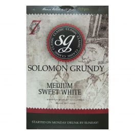 Solomon Grundy Classic Medium Sweet White (30 Bottle) Wine Kit