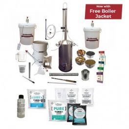 Spiritworks Boiler with Turbo 500 Stainless Condenser - Complete Gin Botanicals Starter Bundle