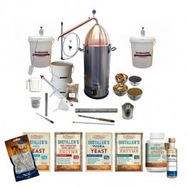 spiritworks-boiler-with-ss-alembic-copper-dome-and-alembic-copper-condenser-complete-gin-botanicals-starter-bundle