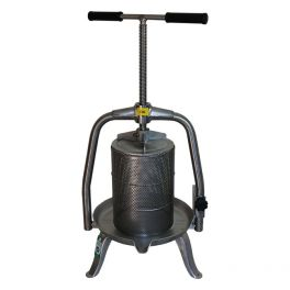 9-10 Litre All Stainless Cross Beam Fruit Press with Mesh Basket (V20 INOX) - Ideal for Apples & Honeycomb