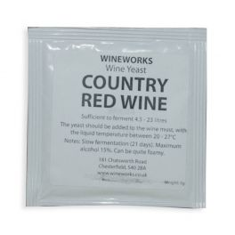 Wineworks Country Red Wine Yeast 5g Sachet
