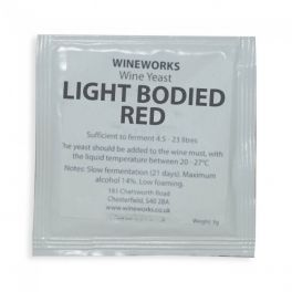 Yeast 5g Sachet - Light Bodied Red