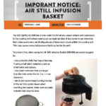 Important Notice - For those with the Still Spirits Infusion Basket